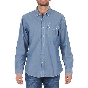 衣服 男士 长袖衬衫 Lee Cooper Greyven 蓝色