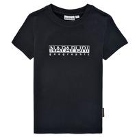 衣服 男孩 短袖体恤 Napapijri S-BOX SS 黑色