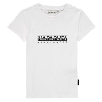 衣服 男孩 短袖体恤 Napapijri S-BOX SS 白色