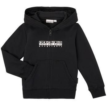 衣服 男孩 卫衣 Napapijri B-BOX FZH 黑色