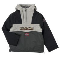 衣服 男孩 棉衣 Napapijri RAINFOREST POCKET 灰色 / 黑色
