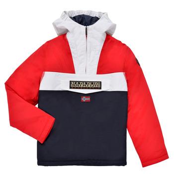 衣服 男孩 棉衣 Napapijri RAINFOREST POCKET 蓝色 / 白色 / 红色