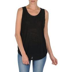 衣服 女士 无领短袖套衫/无袖T恤 Majestic MANON 黑色