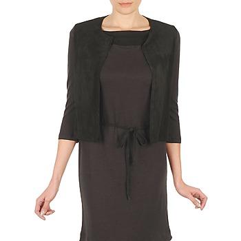 衣服 女士 羊毛开衫 Majestic BERENICE 黑色