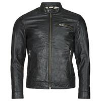衣服 男士 皮夹克/ 人造皮革夹克 Selected 思莱德 SLHICONIC 黑色