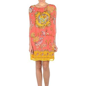 衣服 女士 短裙 Derhy ACCORDABLE 玫瑰色 / 黄色