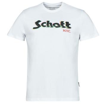 衣服 男士 短袖体恤 Schott TSLOGOELEK 白色