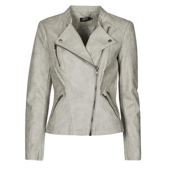 衣服 女士 皮夹克/ 人造皮革夹克 Only ONLAVA 灰色