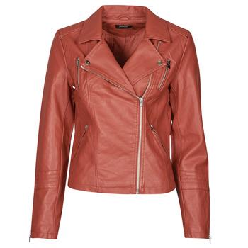 衣服 女士 皮夹克/ 人造皮革夹克 Only ONLGEMMA 红色