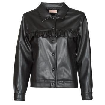 衣服 女士 皮夹克/ 人造皮革夹克 Moony Mood PABLIS 黑色