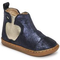 鞋子 女孩 短筒靴 SHOO POM by Pom d'Api BOUBA APPLE 蓝色