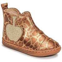 鞋子 女孩 短筒靴 SHOO POM by Pom d'Api BOUBA APPLE 棕色