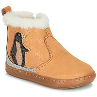鞋子 女孩 短筒靴 SHOO POM by Pom d'Api BOUBA ICE 棕色