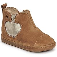 鞋子 女孩 短筒靴 SHOO POM by Pom d'Api BOUBA NEW APPLE 棕色
