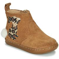 鞋子 女孩 短筒靴 SHOO POM by Pom d'Api BOUBA PIMPIN 棕色