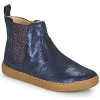 鞋子 女孩 短筒靴 SHOO POM by Pom d'Api PLAY CHELSEA 蓝色