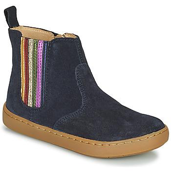 鞋子 女孩 短筒靴 SHOO POM by Pom d'Api PLAY NEW SHINE 蓝色