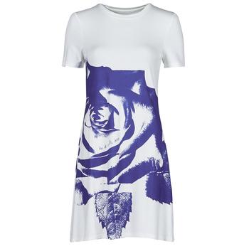 衣服 女士 短裙 Desigual WASHINTONG 白色 / 蓝色