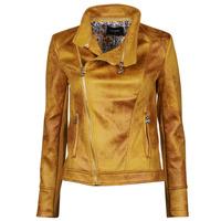 衣服 女士 皮夹克/ 人造皮革夹克 Desigual MARBLE 黄色