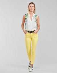 衣服 女士 多口袋裤子 Desigual ALBA 黄色