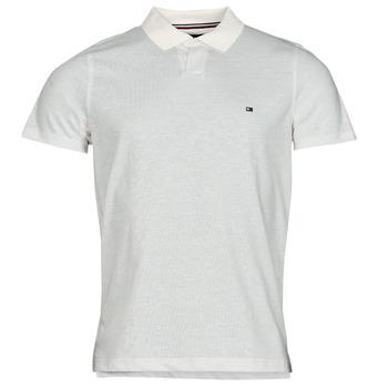 衣服 男士 短袖保罗衫 Tommy Hilfiger LINEN JERSEY SLIM PO, AF2 白色