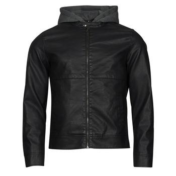 衣服 男士 皮夹克/ 人造皮革夹克 Jack & Jones 杰克琼斯 JCOWILLY 黑色
