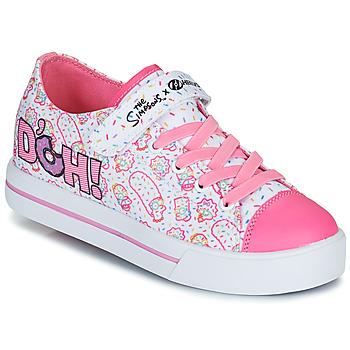 鞋子 儿童 轮滑鞋 Heelys SNAZZY 白色 / 玫瑰色 / 淡紫色