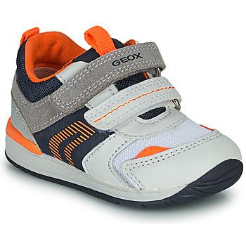 鞋子 男孩 球鞋基本款 Geox 健乐士 B RISHON 白色