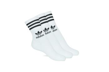 配件 High socks Adidas Originals 阿迪达斯三叶草 MID CUT CRW X 3 白色