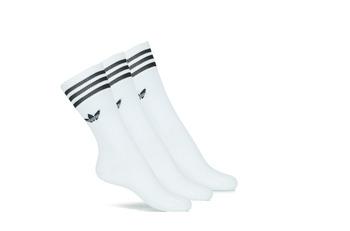 内衣 High socks Adidas Originals 阿迪达斯三叶草 SOLID CREW SOCK X3 白色