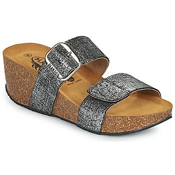 鞋子 女士 休闲凉拖/沙滩鞋 Plakton SO ROCK 黑色 / 金属光泽