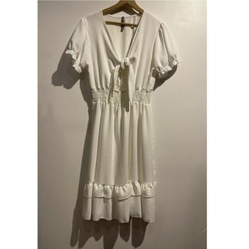 衣服 女士 短裙 Fashion brands 9176-BLANC 白色