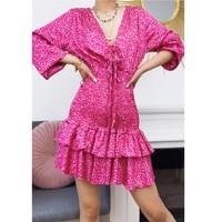 衣服 女士 短裙 Fashion brands 22974-FUSHIA 紫红色