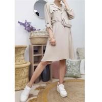 衣服 女士 短裙 Fashion brands CD2293-BEIGE 米色
