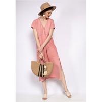 衣服 女士 长裙 Fashion brands 6658-CORAIL 珊瑚色