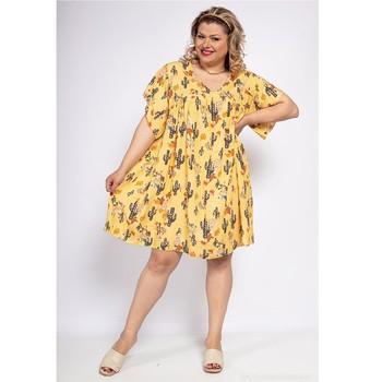 衣服 女士 短裙 Fashion brands DIABOLE-COLOR-ONE-JAUNE 黄色