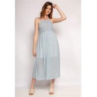 衣服 女士 长裙 Fashion brands 571-BLEU-CLAIR 蓝色 / 米色