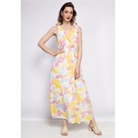衣服 女士 长裙 Fashion brands R185-JAUNE 黄色