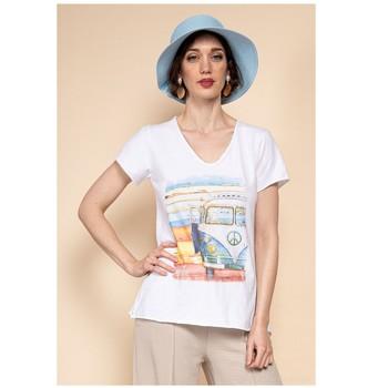 衣服 女士 女士上衣/罩衫 Fashion brands 8301-COMBI-SKY-BLUE 蓝色