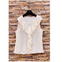 衣服 女士 女士上衣/罩衫 Fashion brands ERMD-13797-CP-BLANC 白色