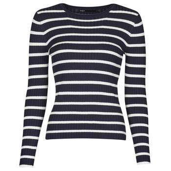 衣服 女士 羊毛衫 Only ONLNATALIA 海蓝色 / 白色