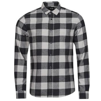衣服 男士 长袖衬衫 Only & Sons  ONSGUDMUND 黑色 / 白色