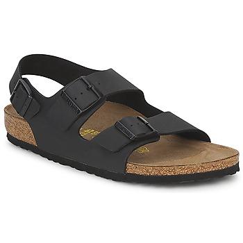 鞋子 男士 涼鞋 Birkenstock 勃肯 MILANO 黑色