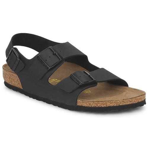 鞋子 男士 凉鞋 Birkenstock 勃肯 MILANO 黑色