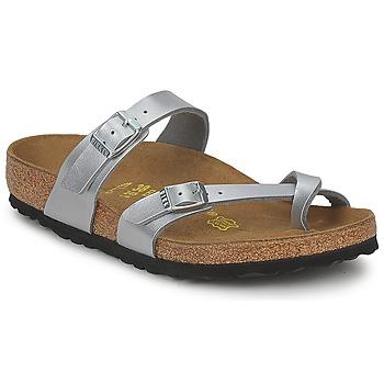 鞋子 女士 休闲凉拖/沙滩鞋 Birkenstock 勃肯 MAYARI 银灰色