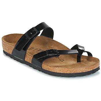 鞋子 女士 休闲凉拖/沙滩鞋 Birkenstock 勃肯 MAYARI 黑色 / VERNI