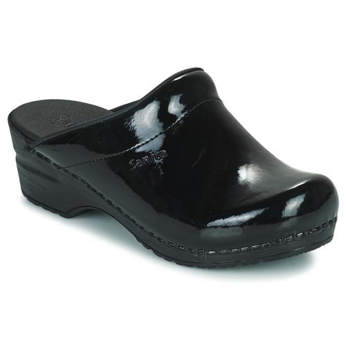 鞋子 女士 洞洞鞋/圆头拖鞋 Sanita SONJA OPEN 黑色