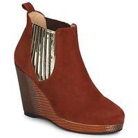 鞋子 女士 短靴 MySuelly LEON 铁锈色 / 金色