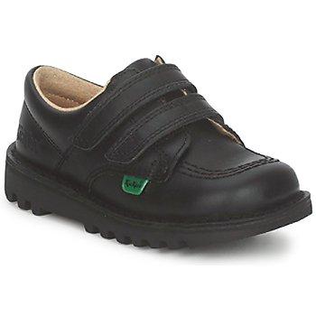 鞋子 儿童 球鞋基本款 Kickers KICK LO VELCRO 黑色