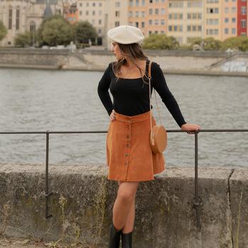 衣服 女士 半身裙 Céleste NANDINA 铁锈色